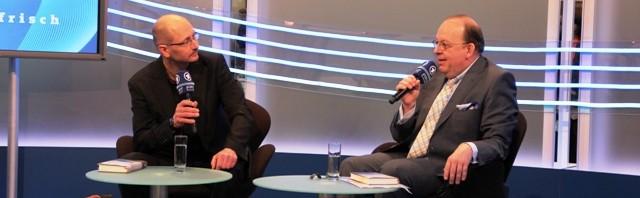 Heinrich Steinfest im Gespräch mit Denis Scheck (c) Sonja Hartl