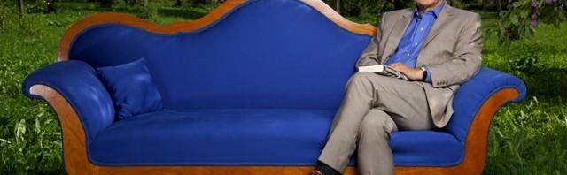 "Wolfgang Herles auf dem ""blauen Sofa"" (c) ZDF"