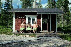 Die Vorliebe der Finnen für ihre Schwitzhütten werden die drei Argentinier wohl nie verstehen. © Björn Knechtel
